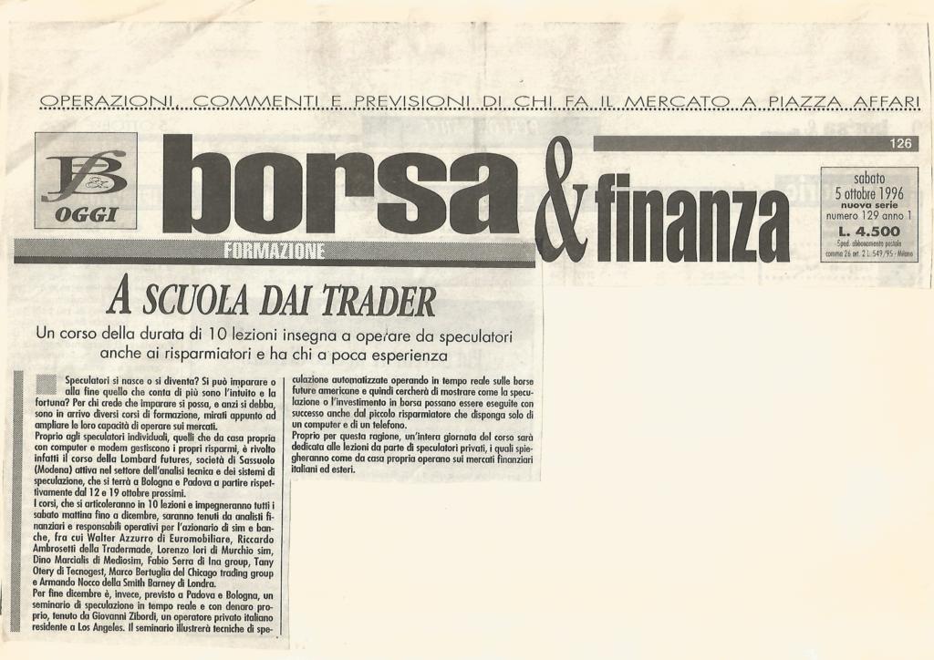 1996 5 ottobre CORSO DI ANALISI TECNICA