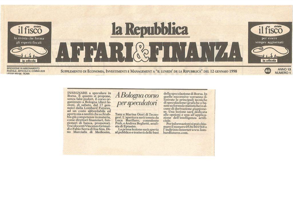 1998 12 gennaio AFFARI & FINANZA DI REPUBBLICA