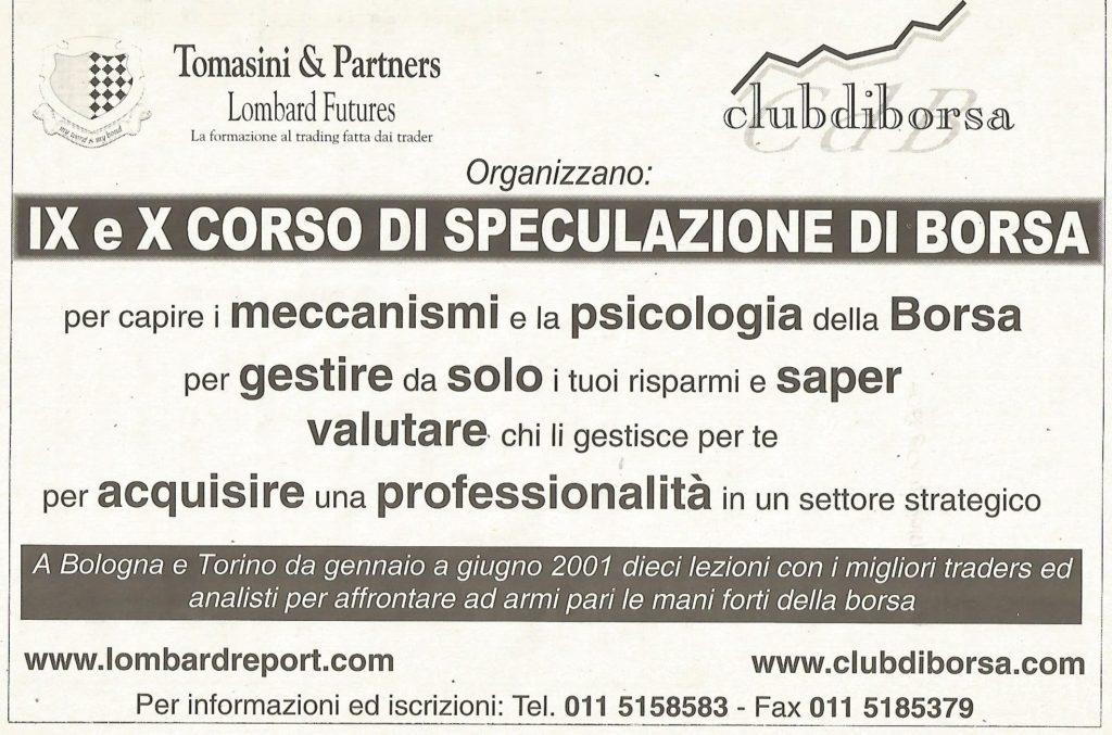 2003 pubblicita nono e decimo corso di speculazione di borsa
