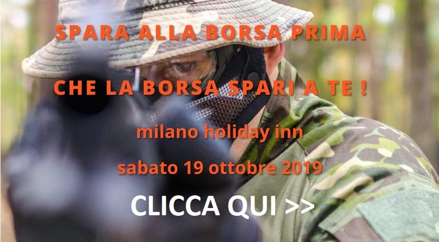 Evento a Milano sabato 19 ottobre 2019